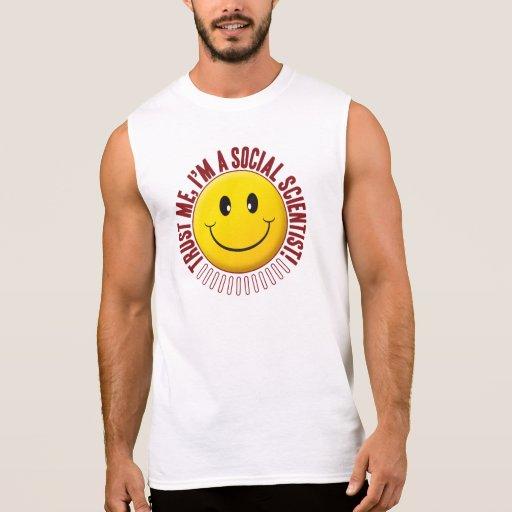 Social Scientist Trust Smiley Sleeveless T-shirt Tank Tops, Tanktops Shirts