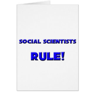 Social Scientists Rule Cards