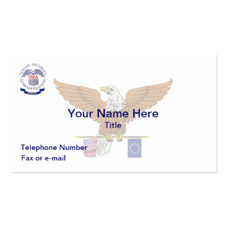 Social Security Admin Retired Eagle Business Card