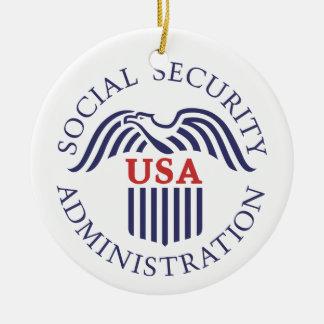 Social Security Administration Ceramic Ornament