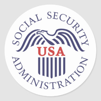 Social Security Administration Classic Round Sticker