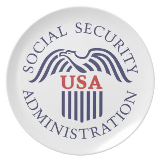 Social Security Administration Dinner Plate