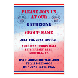 Social Security Administration Event Invitation