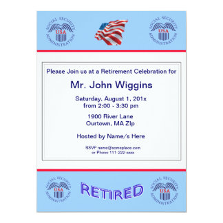 Social Security Administration Retirement Invitati Card
