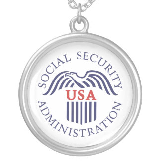 Social Security Administration Silver Plated Necklace