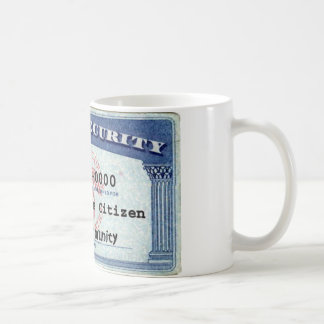 Social Security Card Classic White Coffee Mug