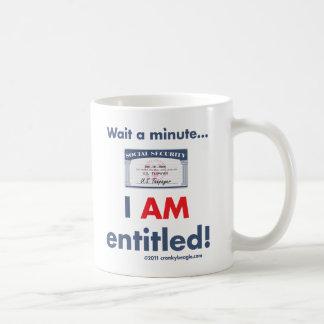 Social Security Entitled Mug