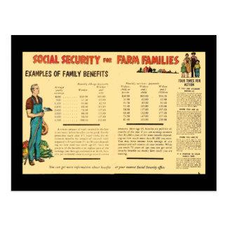 Social Security for Farm Families Postcard