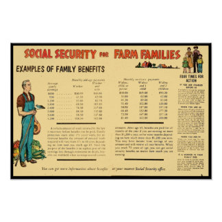 Social Security for Farm Families Posters
