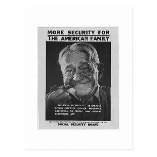 Social Security Grandpa, 1930s - Customized Postcard
