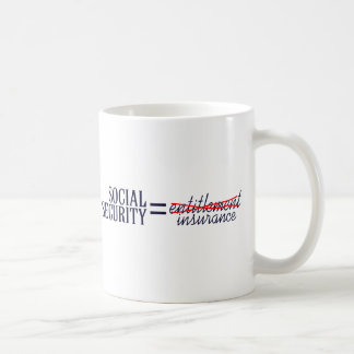 Social Security not Entitlement Coffee Mug