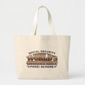 Social Security Ponzi Scheme Canvas Bags