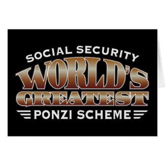 Social Security Ponzi Scheme Greeting Card