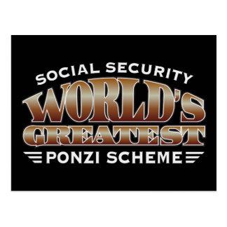Social Security Ponzi Scheme Postcard