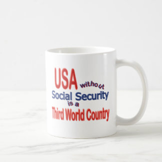 Social Security USA! Personalize Background. Coffee Mug