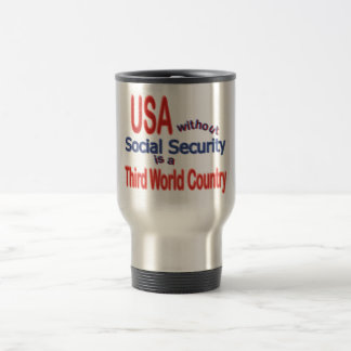 Social Security USA! Personalize Background. Mugs