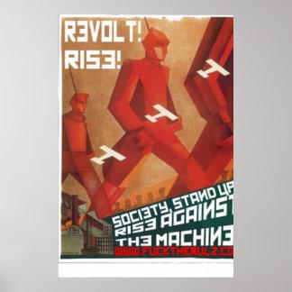 Social Shakedown Society Revolt Poster