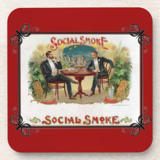Social Smoke Beverage Coaster