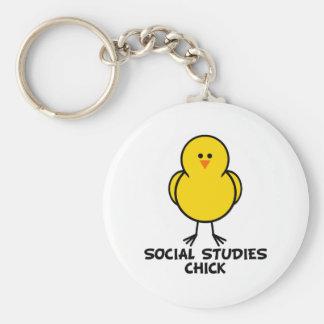 Social Studies Chick Keychain