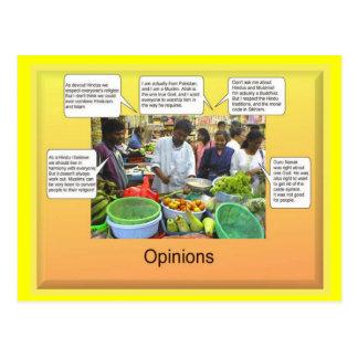 Social Studies, Opinions Postcard