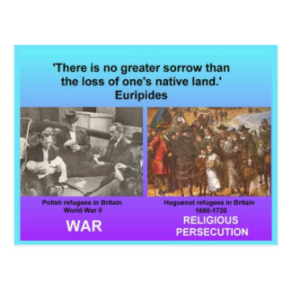 Social Studies, Refugees Postcard