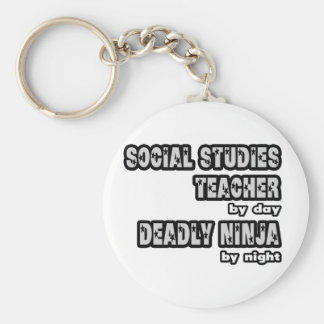 Social Studies Teacher ...Deadly Ninja Keychain