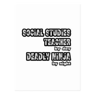 Social Studies Teacher ...Deadly Ninja Postcard