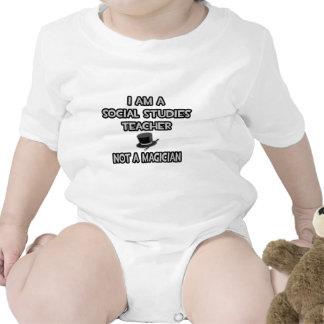 Social Studies Teacher Not A Magician Baby Bodysuits