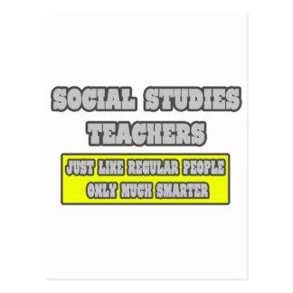 Social Studies Teachers...Much Smarter Postcard
