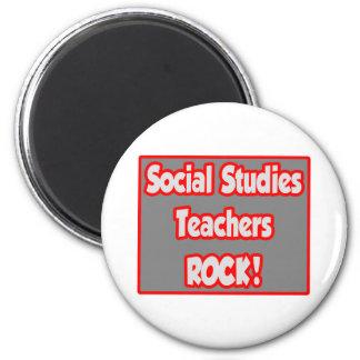 Social Studies Teachers Rock! 2 Inch Round Magnet