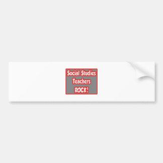 Social Studies Teachers Rock! Bumper Sticker