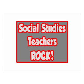 Social Studies Teachers Rock! Postcard