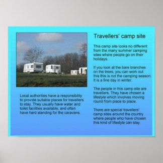 Social Studies, Travellers' Camp Site Poster