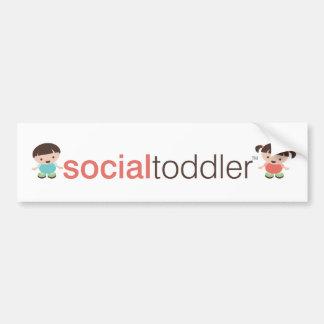 Social Toddler Bumper Stickers