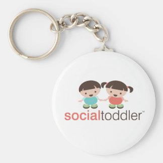 Social Toddler Keychain