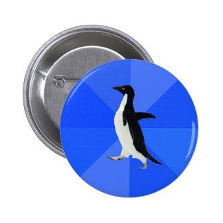 Social-Torpe-Pingüino-Meme Pin Redondo 5 Cm