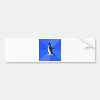 Social-Torpe-Pingüino-Meme Pegatina De Parachoque