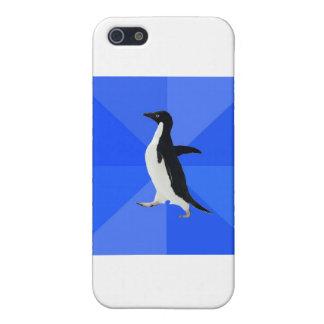 Social-Torpe-Pingüino-Meme iPhone 5 Funda