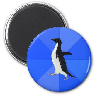 Social-Torpe-Pingüino-Meme Imán Redondo 5 Cm