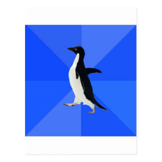 Social-Torpe-Pingüino-Meme Tarjeta Postal