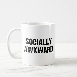 Social torpe taza de café