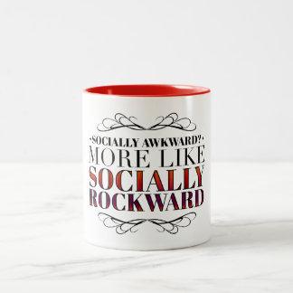 ¿Social torpe? Taza De Dos Tonos