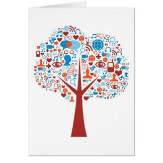 Social Tree shape Greeting Card