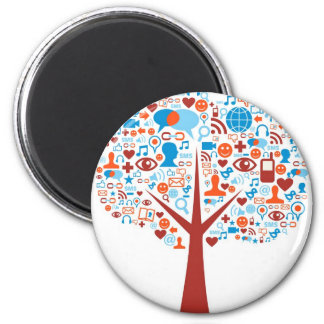 Social Tree shape Magnet