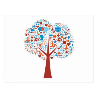 Social Tree shape Postcard