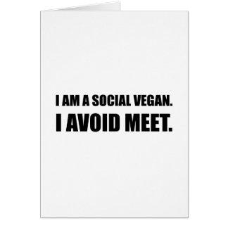 Social Vegan Avoid Meet Card