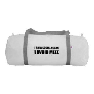 Social Vegan Avoid Meet Gym Bag