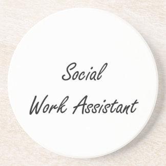 Social Work Assistant Artistic Job Design Coaster