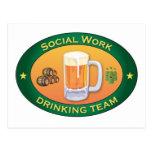 Social Work Drinking Team Postcard