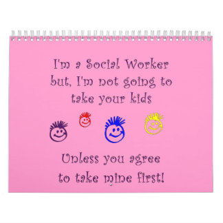 Social Work Humor Calendar